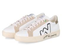 Sneaker SNIK - WEISS/ GOLD/ NUDE