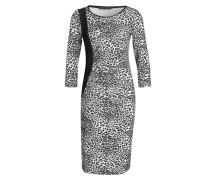 Jerseykleid - schwarz/ grau
