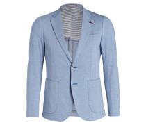 Jersey-Sakko Slim-Fit - blau