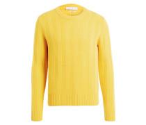 Strickpullover - gelb