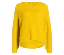 Pullover mit Alpaka-Anteil - gelb