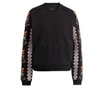 Sweatshirt mit Stickereien
