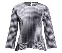 Bluse mit 3/4-Arm - schwarz/ weiss
