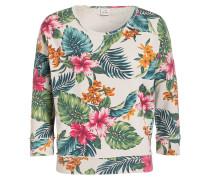 Sweatshirt - sand/ grün/ pink