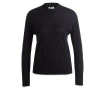 Pullover mit Seidenanteil - schwarz