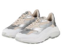 Plateau-Sneaker SWIPE - WEISS/ SILBER