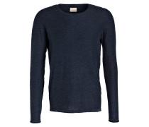 Pullover SHNACID in Strukturstrick - blau