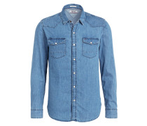 Jeanshemd Regular-Fit - blau