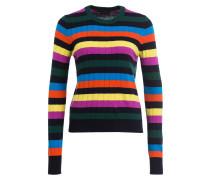 Pullover - schwarz/ grün/ blau