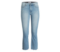 Cropped-Jeans COLETTE - fina distressed