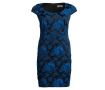 Kleid TARINA - schwarz/ royal