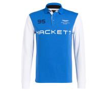 Piqué-Poloshirt - blau/ weiss/ hellgrau