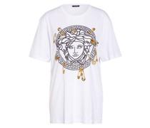 Oversized-Shirt mit Schmucksteinbesatz