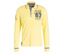 Jersey-Poloshirt - gelb