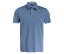 Jersey-Poloshirt IWO - blaugrau