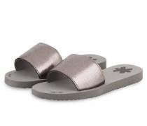 Sandalen SLIM POOL - dunkelgrau metallic