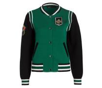 College-Jacke MAT - grün/ schwarz