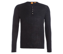 Henley-Shirt KOASTLY Slim-Fit - schwarz