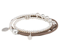 Armband BE RELAXED - taupe/ silber