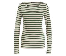 Longsleeve - ecru/ grün gestreift