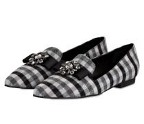 Loafer mit Schmucksteinbesatz