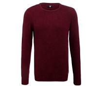 Pullover - dunkelrot meliert
