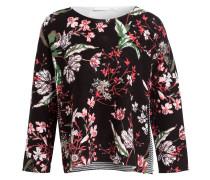 Pullover mit 3/4-Arm - schwarz/ rot/ weiss