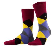Socken CLYDE - 8011 burgund