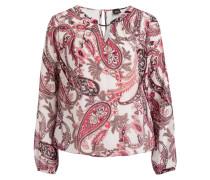 Blusenshirt - creme/ pink/ schwarz