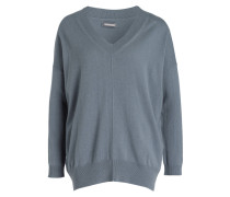 Cashmere-Pullover - graublau