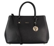 Saffiano-Handtasche LINDA - schwarz