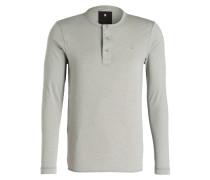 Henley-Shirt - hellgrau