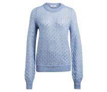 Pullover mit Mohair-Anteil - hellblau