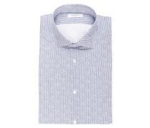 Hemd PHANTASIE Slim-Fit - blau/ weiss