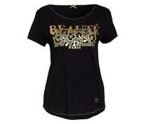 T-Shirt BEAUTY mit Schmucksteinbesatz und