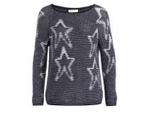 Pullover - dunkelblau/ weiss