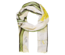 Schal - weiss/ gelb/ grün