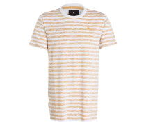 T-Shirt KANTANO - weiss/ orange gestreift