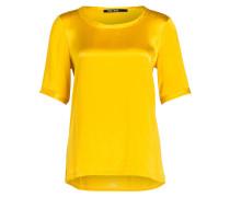 T-Shirt im Materialmix - ocker