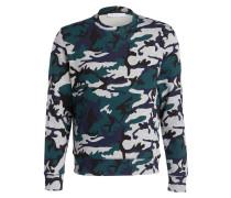 Sweatshirt - grau/ grün