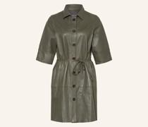 Hemdblusenkleid BEATRICE aus Leder