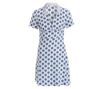 Kleid - blau/ ivory/ lavendel