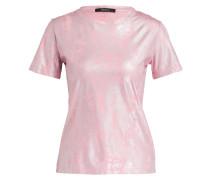 T-Shirt mit Beschichtung - rosa/ silber