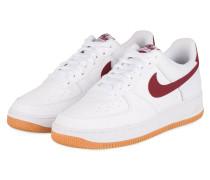 Sneaker AIR FORCE 1 - WEISS/ BORDEAUX