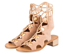 Cut-Out-Sandalen - beige