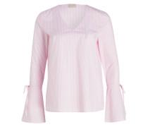 Bluse mit Trompetenärmel - rosa
