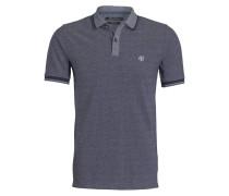 Piqué-Poloshirt - blau/ grau