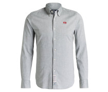 Chambray-Hemd LEON Slim-Fit