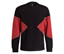 Sweatshirt - schwarz / rot