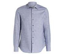 Flanellhemd Regular-Fit - graublau